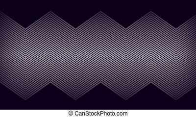 blanc, lentement, noir, mince, défilement, lignes, arrière-plan animation, sur, parallèle, zigzag