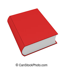 blanc, livre, rouges, render, 3d