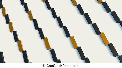 blanc, looping., seamless, tourner, rectangles, cyclically, surface., 3d, orange, noir
