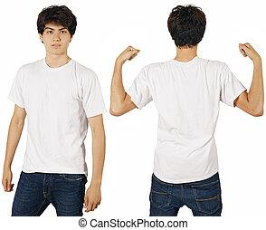 blanc mâle, chemise, vide