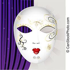 blanc, masque, carnaval