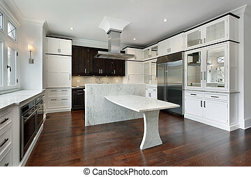 blanc, moderne, cabinetry, cuisine
