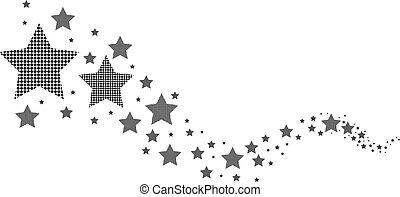 blanc, noir, étoiles