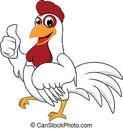 blanc, ok, poulet, heureux