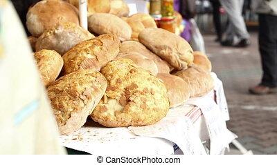 blanc, organique, pain