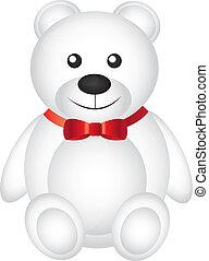 blanc, ours, teddy
