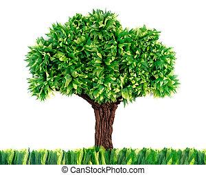blanc, papier, fait, arbre, recyclé, isolé, fond