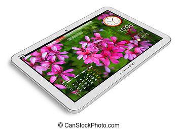 blanc, pc tablette