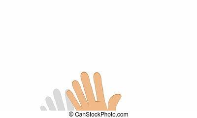blanc, pointage, main