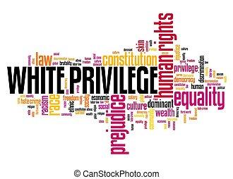 blanc, privilège