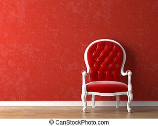blanc rouge, conception intérieur