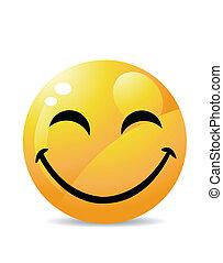 blanc, smiley