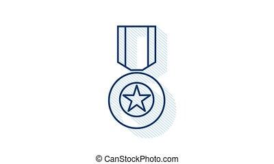 blanc, soviétique, héros, arrière-plan., icon., illustration, graphics., mouvement, étoile, union, or, récompense