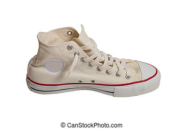 blanc, sport, isolé, fond, chaussure