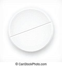 blanc, tablette
