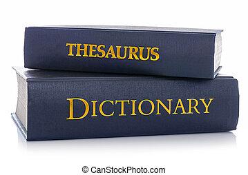 blanc, thésaurus, dictionnaire, isolé