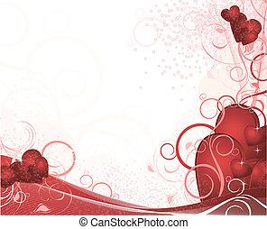 blanc, valentines, fond