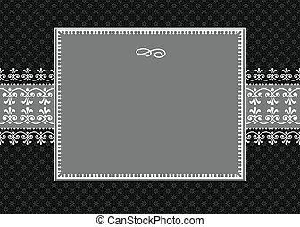 blanc, vecteur, cadre, ruban