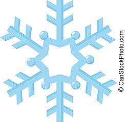 blanc, vecteur, flocon de neige, illustration, arrière-plan.