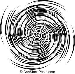 blanc, vecteur, noir, spirale