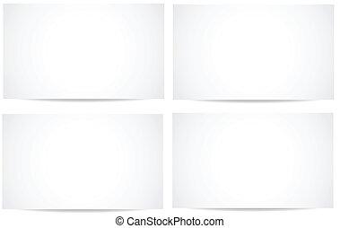 blanc, vectors, bannières, vide