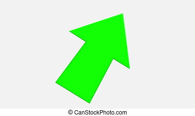 blanc vert, fond, tourner, flèche