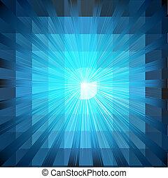 bleu, éclater