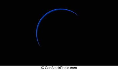 bleu, éclipse totale, solaire