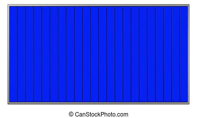 bleu, écrans, panneaux affichage