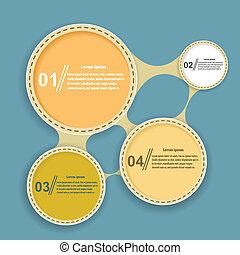 bleu, éléments, résumé, arrière-plan., vecteur, infographics