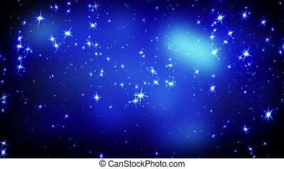bleu, étoiles chute, loopable, briller