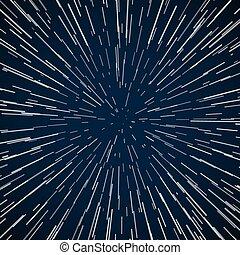 bleu, étoiles, résumé, zoom, chaîne, vecteur, fond, guerre, galaxie