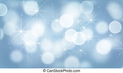 bleu allume, bokeh, particules, boucle