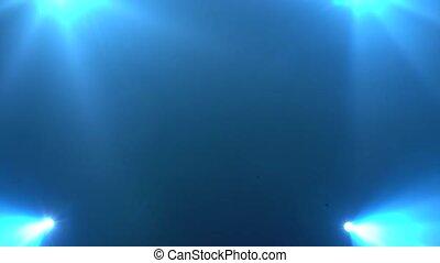 bleu allume, flash, fond