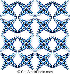 bleu, amulette, ligne, vecteur, art