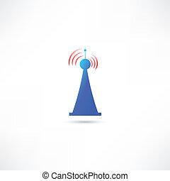 bleu, antenne