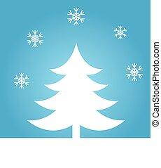 bleu, arbre, noël