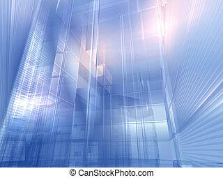 bleu, argent, architectural
