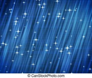 bleu, arrière-plan., étoiles, pal.