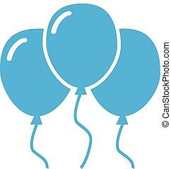 bleu, arrière-plan., balloon, blanc, icône