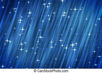 bleu, arrière-plan., ntsc., étoiles
