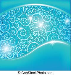 bleu, arrière-plan., résumé, vecteur, illustration.
