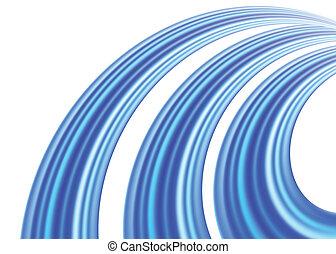 bleu, arrière-plan., vecteur, illustration