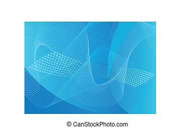 bleu, art, &, halftone, fond, ligne