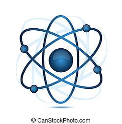 bleu, atome