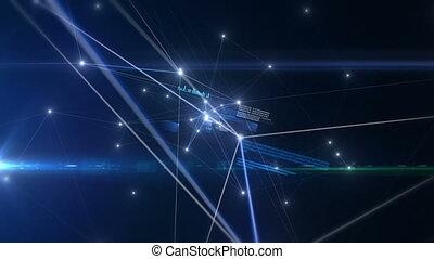 bleu, avenir, réseau