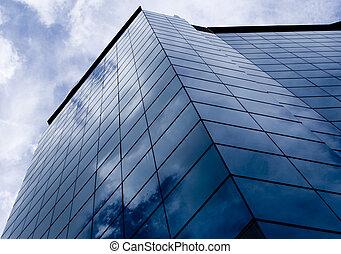 bleu, bâtiments, 2