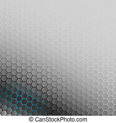 bleu, backlight., résumé, arrière-plan., hexagones