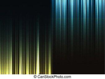 bleu, barre, résumé, bas, arrière-plan vert, dessus, ligne