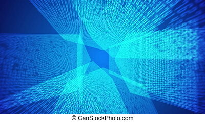 bleu, binaire, résumé, code, fond